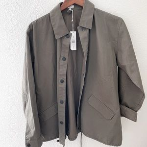 Embroiled army green jacket